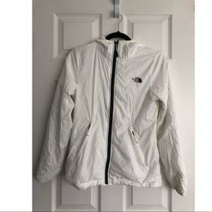 White Northface windbreaker/rain jacket